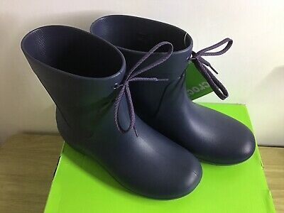 Crocs Freesail Shorty Wellies Boots Navy Blue Size UK 3  • 20£