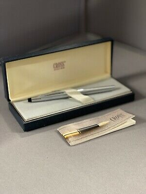 Vintage - Cross - Sterling Silver Fountain Pen - Leather Case - 1980's • 40£