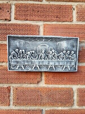 £11.95 • Buy Jesus And The Apostle, The Last Supper Quality Stone Garden Wall Plaque