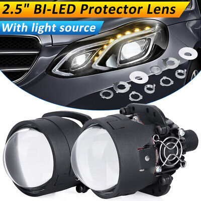 $ CDN118.56 • Buy 2.5 Inch Bi LED Projector Lens Headlight 55W 6500K H4 9003 9005 9006 With Driver