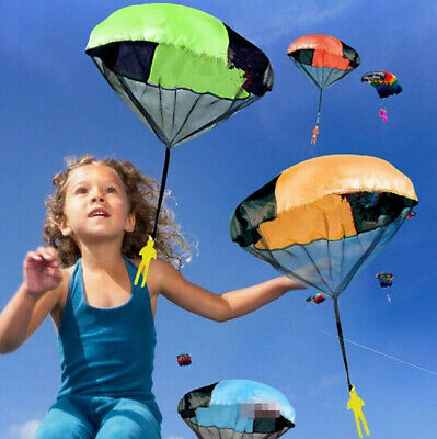 Kids Outdoor Throwing Hand Mini Parachute Toy Children's Educational Toys Play • 4.29£