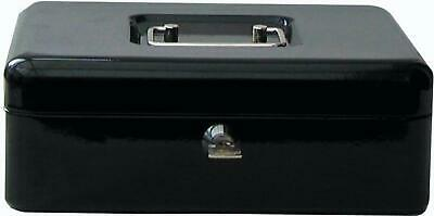 Lock Box Fire Resistant Fireproof Security Chest Large Cash Safe Keys  Black • 17.59£
