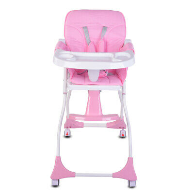 Portable Baby High Chair Infant Child Foldable Toddler Feeding Cloth Seat Travel • 10.50£