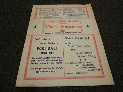 ALDERSHOT  V  SOUTHEND UNITED  1955/6  ~ OCTOBER 22nd  ***RARE***    *FREE POST* • 19.99£