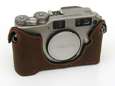 $ CDN86.41 • Buy Leather Distress Suede Half Case For Contax G1 - BRAND NEW