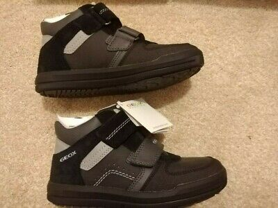 BRAND NEW - GEOX RESPIRA - Boys Grey Boots/hintop Trainers - Size 13 (RRP £50) • 30£