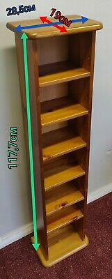 Beautiful Wooden Tower CD/DVD/Books Stand • 5.99£