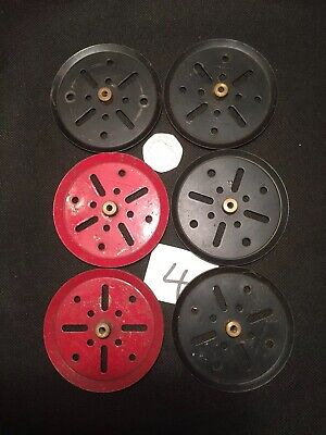 Vintage Meccano Pulley Wheels X6  1950s • 8£