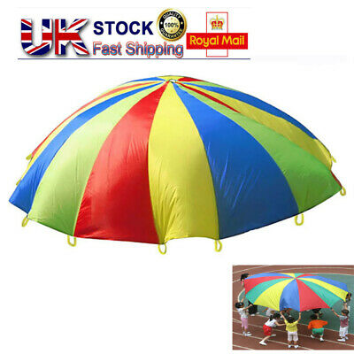 Children Play Parachute With 8 Handles For Kids Play Garden Games Activities Toy • 13.17£