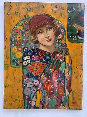 $ CDN1274.62 • Buy Excellent Painting,oil On Old Canvas,masterpiece Of Old Painter,signed Klimt