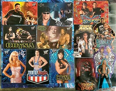 $ CDN29.29 • Buy 13 Vintage WWF Stickers The Rock Mick Foley Chyna Chris Jericho Kane Undertaker