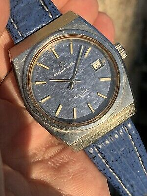 1970s Eterna Kontiki 20 Automatic Mens Watch 37,5mm Great Dial Ref. 633.1003 41 • 375£