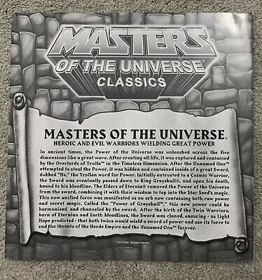$29.99 • Buy MOTI Masters Of The Universe Classics Figure Checklist Folded Poster