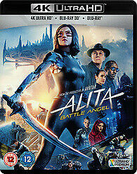 AU36.95 • Buy Alita 4K UHD, 3D & 2D Blu-ray New Sealed With Slipcover