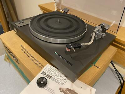 SANSUI SR-222 TURNTABLE New Belt/New AT91R BOXED/Manual Working Well • 125£