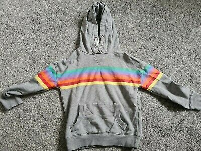 Next Age 8 Rainbow Hoodie. No Tags Never Worn. • 3£