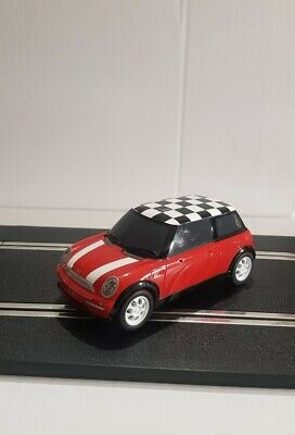 Scalextric - Mini Cooper - Chequered Roof - Red • 8£