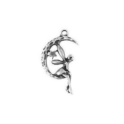 Moon Fairy Charms Tibetan Silver Pendant Pack Of 40 • 4£