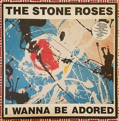 THE STONE ROSES I Wanna Be Adored 12  UK First Pressing With 2 Art Prints • 57.22£