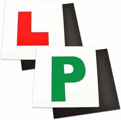 P L Plate Learning Pass Magnetic Car Plates New Passed Driver Learner Sign • 3.49£