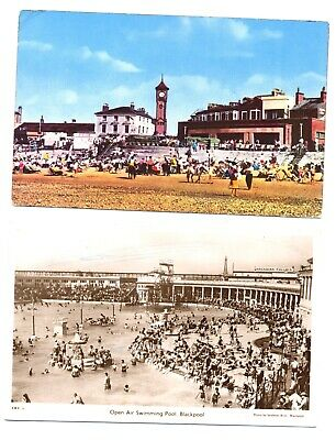 Postcards Of The Clock Tower, Morecambe And Open Air Swimming Pool, Blackpool • 0.99£