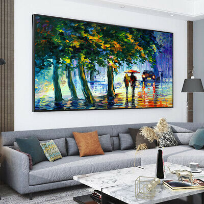 Lovers On Their Way Home Painting Canvas Wall Art Picture Print • 10.79£