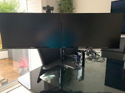 Complete Home Office - USB-C Plugable, 2x ASUS Monitors, Webcam & Monitor Stand • 350£