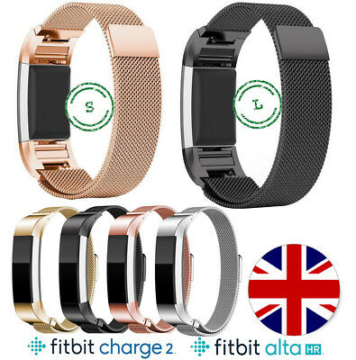 $ CDN15.40 • Buy Metal Fitbit Charge 2 Alta HR Replacement Milanese Band Strap Secure Wristband