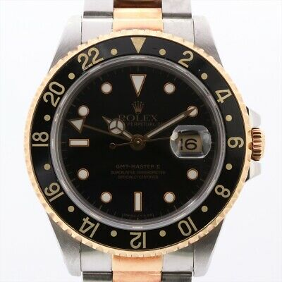 $ CDN11053.86 • Buy Rolex GMT Master II 16713 Stainless SteelxYG AT Black Dial
