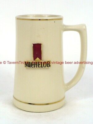 $ CDN25.51 • Buy 1970s MICHELOB BEER With Badge 6 Inch Stein TavernTrove