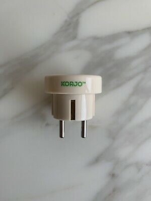 AU0.99 • Buy Korjo Travel Adapter - From Australia To Europe