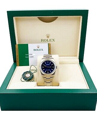 $ CDN9866.13 • Buy BRAND NEW Rolex 116000 Oyster Perpetual 36 Blue Dial Stainless Steel Box Papers