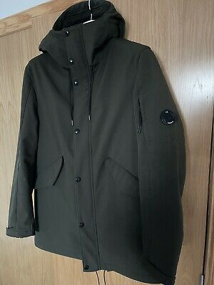 CP Company Soft Shell FIshtail Parka - Green - Large • 82£