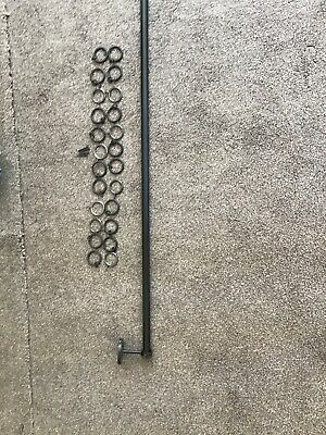 Metal Curtain Pole With Fixings , 24 Rings • 6£