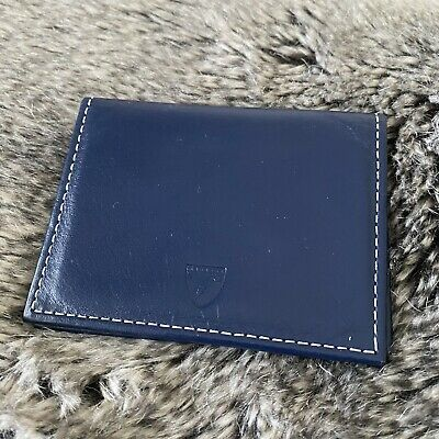 Aspinal Of London | Card Holder | Navy Leather | Gorgeous Condition | Red Lining • 5£