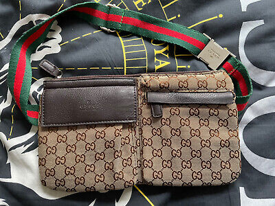 AU255 • Buy GUCCI Belt Bag GG Web Monogram Belt Bag Unisex