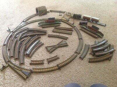 Antique Bing Table Top Clockwork German Tin Plate Train Set With Locomotive • 180£