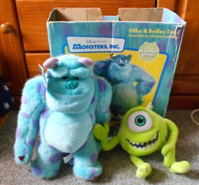 Monsters Inc. Mike And Sulley Soft Toy Disney Channel & Sky Promotion Official • 23.99£
