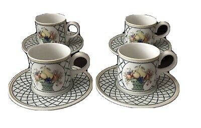 4 Villeroy & Boch Basket Small Cups & Saucers Tea/coffee • 40£