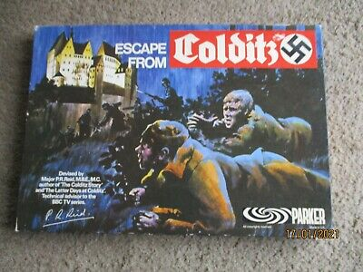 Escape From Colditz Board Game 1973 Parker - Very Good Condition • 19.99£