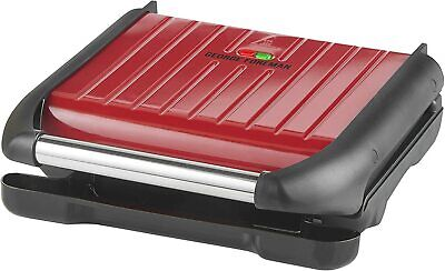 £34.99 • Buy George Foreman 5 Portion Family Cooking Grill Non-Stick Easy Clean 25040 Red