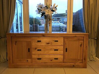 Solid Oak Sideboard Used • 24£