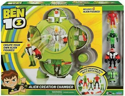 Ben 10 Alien Creation Chamber Playset Includes 4 Figures Collectable Gift NEW • 38.95£