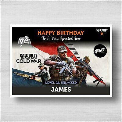 £4.95 • Buy Personalised Birthday Card CALL OF DUTY - Girl Or Boy - Any Name And Age