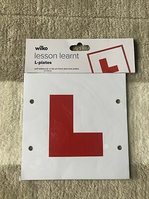 L-Plates Self Adhesive Or Tie On  • 1.50£