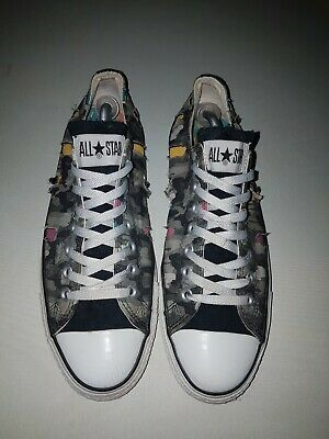 *Converse Chuck Taylor All Star Low Top Trainers Uk 9 Camo Pattern Rare* • 9£