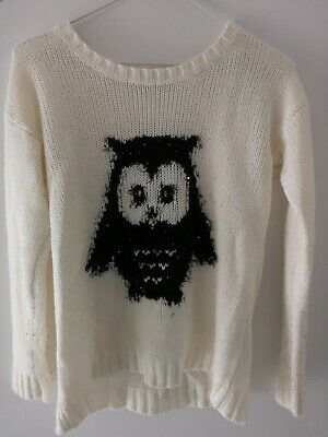 White Owl Jumper Sweater Primark • 2.99£