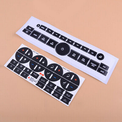 $9.99 • Buy For GM GMC Interior Stickers Radio+ A/C Climate Control Button Repair Decals