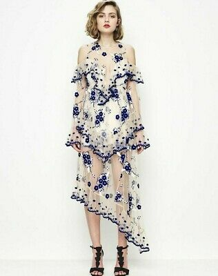 AU120 • Buy Alice McCall Embroidery Mirage Gown Size 10 RRP $590 BNWT