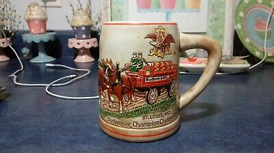 $ CDN12.75 • Buy 1976 Budweiser Champion Clydesdales Beer Stein Awesome Shape
